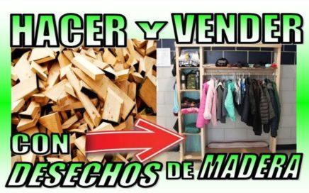 24 COSAS QUE PUEDES HACER CON DESECHOS DE MADERA Y VENDERLAS