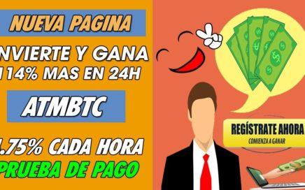 ATMBTC| NUEVA HYPS| INVIERTE Y GANA 114% MAS EN 24HORAS Y UN 4.17% CADA HORA +PRUEBA DE PAGO