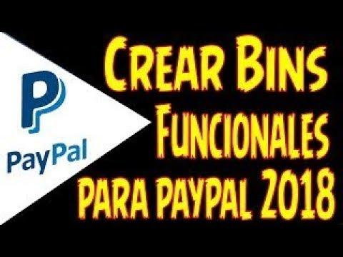 BIN PARA PAYPAL 100% FUNCIONAL (DINERO GRATIS PARA PAYPAL) SEPTIEMBRE 2018