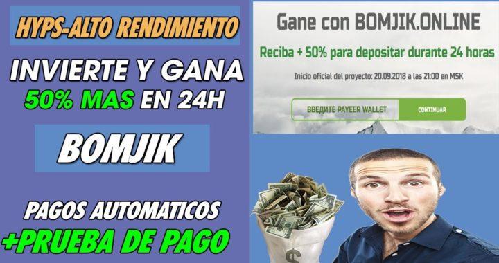 BONJIK | INVIERTE Y GANA 50% MAS SOBRE LO INVERTIDO EN 24 HORAS |HYPS| + PRUEBA DE PAGO