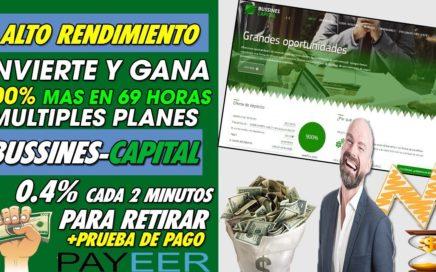 BUSSINES-CAPITAL| INVIERTE Y GANA HASTA UN 900% MAS | BENEFICIO DE 0.4% CADA 2 MIN + PRUEBA DE PAGO