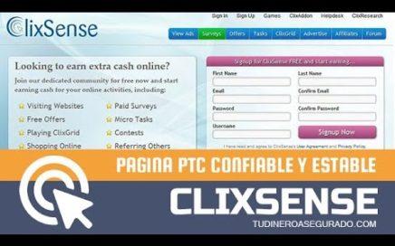 Clixsense – Gana hasta 20$ Diarios sin Invertir   Tu Dinero Asegurado