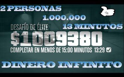 COMO GANAR 1 MILLON 13 MINUTOS 2 JUGADORES FACIL GTAV ONLINE 1.45