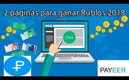 Como Ganar 100  Rublos diario a Payeer 2018 + Sorteo de 30 Rublos