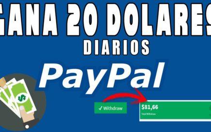COMO GANAR 20 DOLARES DIARIOS PARA PAYPAL!! COMPROBANTE DE PAGO