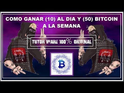 COMO GANAR BITCOIN CON TU CELULAR  50 CADA DIA Y 10 CADA HORA APROVECHA 2018