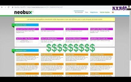 Como ganar dinero con Neobux La mejor página PTC [BIEN EXPLICADO, SIN LÍMITES DE  GANANCIAS]