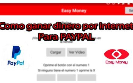 Como ganar dinero en Internet para paypal 2018