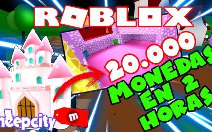 COMO TENER 20.000 monedas en Meepcity en 2 horas para el CASTILLO - ROBLOX