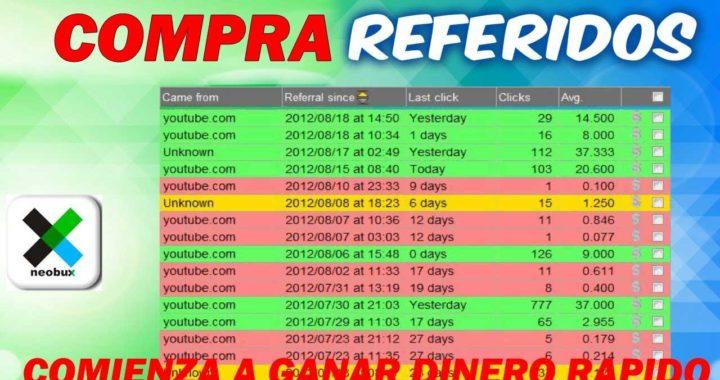 COMPRA REFERIDOS EN NEOBUX PARA GANAR DINERO MAS RAPIDO