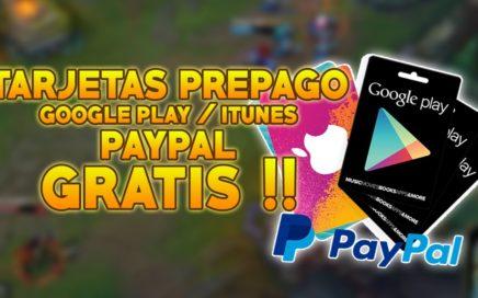 CONSEGUIR TARJETAS PREPAGO Y DINERO DE PAYPAL GRATIS | Android | MÉTODO 2
