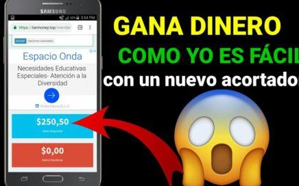 GANA DINERO CON ESTE NUEVO ACORTADOR | YA YO Y SE UN PAGO DE 250,00 DÓLARES! EN ESTE VIDEO 2018