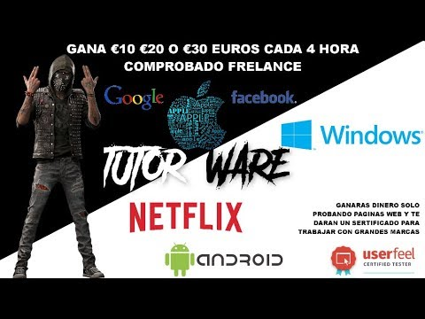GANA DINERO PROBANDO PAGINAS WEB TE PAGA €10 €20 €30 EUROS FRELANCE 2018