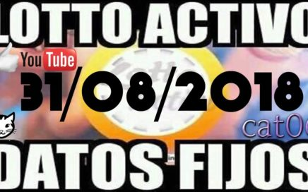 LOTTO ACTIVO DATOS FIJOS PARA GANAR  31/08/2018 cat06