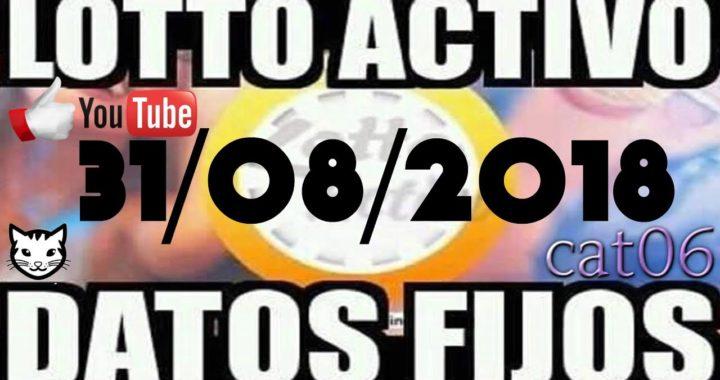LOTTO ACTIVO DATOS FIJOS PARA GANAR  31/08/2018 cat06