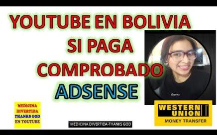 Mi primer pago de Youtube  Cochabamba Bolivia #medicina