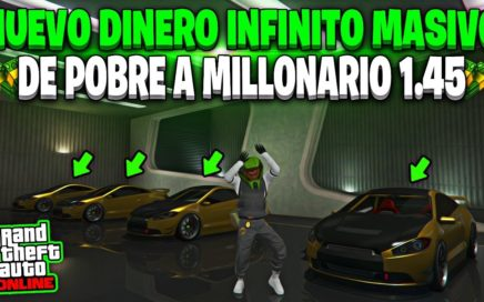 NUEVO! HAZTE RICO CON ESTE TRUCO *FACIL* DE DINERO INFINITO MASIVO GTA 5 ONLINE 1.45 (PS4/XBOX ONE)