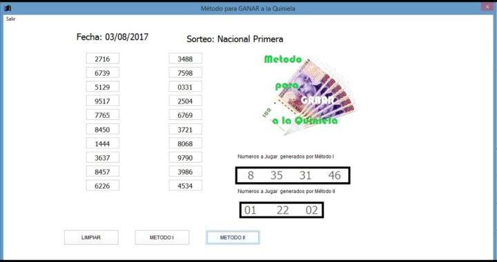Sistema para ganar la Quiniela en argentina. Todas las quinielas
