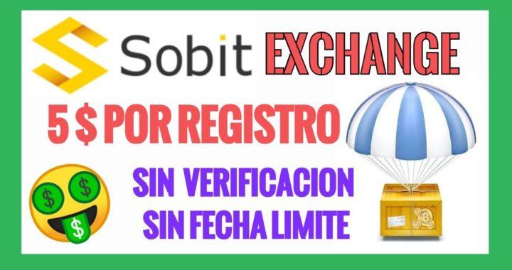 Sobit Airdrop | 5 Dolares Gratis por Registro y Tareas | Exchange en Funcionamiento
