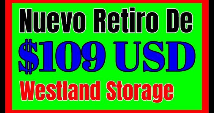 $109 USD CON WESTLAND STORAGE Pagina Para INVERTIR En Criptomonedas y Ganar Dinero Online