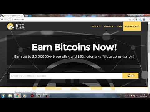 BITCOINS GRATIS como ganar dinero por internet ( BTC CLICKS ).