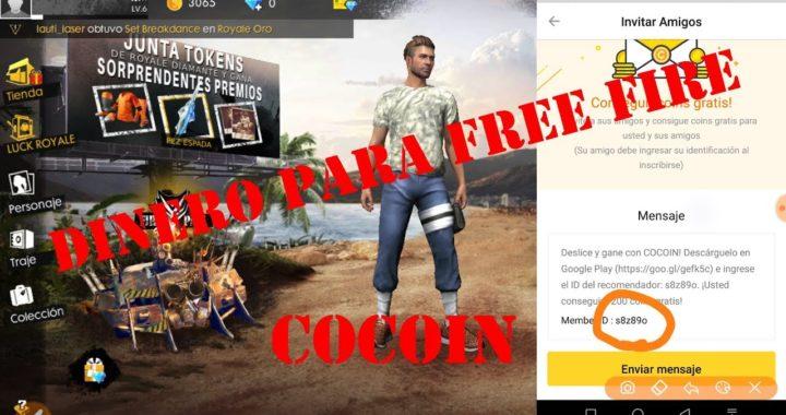 Cocoin para ganar  dinero y comprar en free fire REVISAR MIS VIDEOS YA ACTUALICE ESTE VIDEO