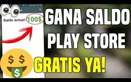 COMO CONSEGUIR DINERO GRATIS PARA LA PLAY STORE 100% REAL 2018
