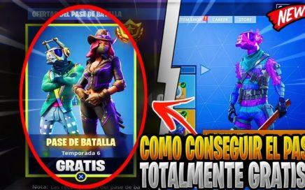 COMO CONSEGUIR EL PASE DE BATALLA 6 TOTALMENTE GRATIS! EN EL FORTNITE BATTLE ROYALE