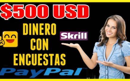 CÓMO GANAR  $500 DOLARES GRATIS A PAYPAL & SKRILL SIN INVERTIR CON ENCUESTAS | SORTEO 250 RUBLOS