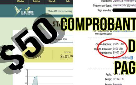 Como ganar dinero con Linkshrink 2016 | BIEN EXPLICADO + comprobante de PAGO - 50 dólares|