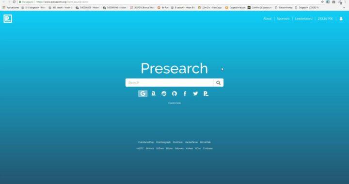Como Registrarse en Presearch
