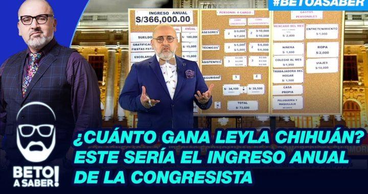 ¿Cuánto gana Leyla Chihuán? Este sería el ingreso anual de la congresista