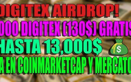 DIGITEX AIRDROP! 1,000 MONEDAS (130$) GANA PUNTOS Y GANA DINERO!