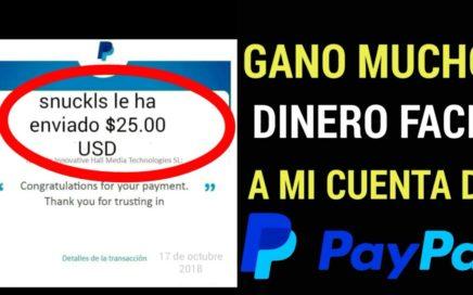#dinero GANA DINERO FACIL A TU CUENTA DE PAYPAL/dinero rápido