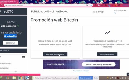 Gana Bitcoin Facil en adBTC REGISTRATE YA!!!!!