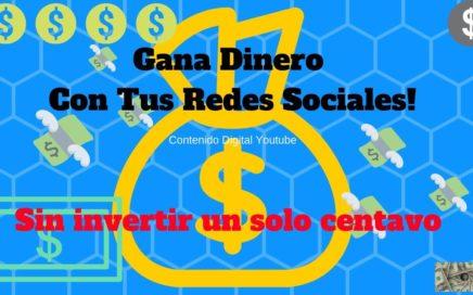 Gana Dinero Con Tus Redes Sociales   Totalmente Gratis Y Muy Facil   Obten Ingresos Extra