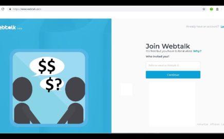 Gana dinero desde tu celular - Webtalk red social (parte 1) - Descripción