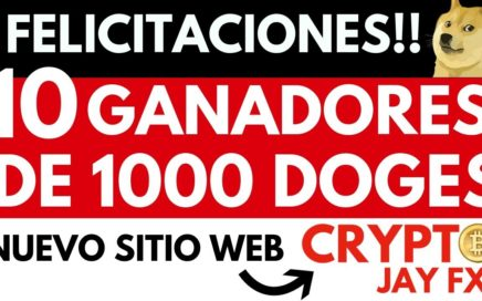 GANADORES DEL SORTEO 1000 DOGECOINS GRATIS  LANZAMIENTO DE NUESTRA WEB CRYPTO JAYFX |BITCOIN GRATIS