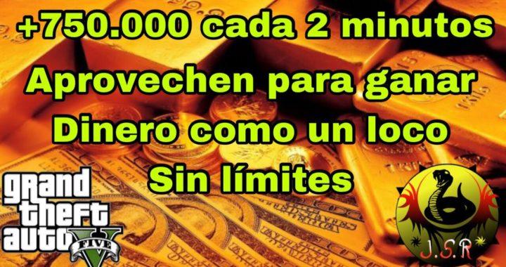 Ganar 750.000 cada 2 minutos Gratis y sin límites (Aprovechen). Sin ayuda. Gta 5 Ps4