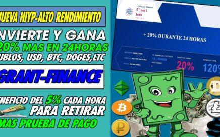 GRANT-FINANCE NUEVA| INVIERTE Y GANA 120% EN 24H CON UN BENEFICIO DE 5% X HORA  MIENTRAS DUERMES
