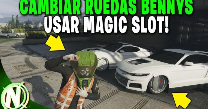 GTA 5 Online - COMO USAR MAGIC SLOT! CAMBIAR RUEDAS BENNYS - Gta V WHEELS BENNYS!