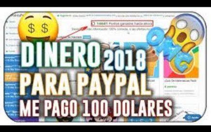 Increíble! Me pagan 100$ diarios para Paypal en esta página y sin inversión / comprobante de pago