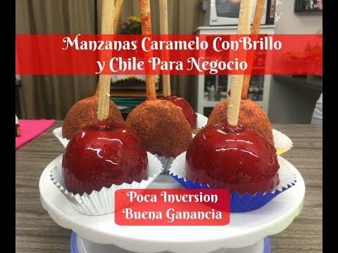 Manzanas Caramelo Con Brillo Y Chile Colaboración El Rincón De Sarita