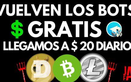 MAS DE $20 DIARIO CON BOTS TELEGRAM GRATIS | BOTS TELEGRAM 2018 - BOTS TELEGRAM BITCOIN - JAY FX