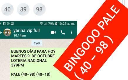 NÚMEROS PARA HOY JUEVES 11 DE OCTUBRE 2018 NÚMEROS ROMPE BAMCA BINGOOOOOO!!!!!!