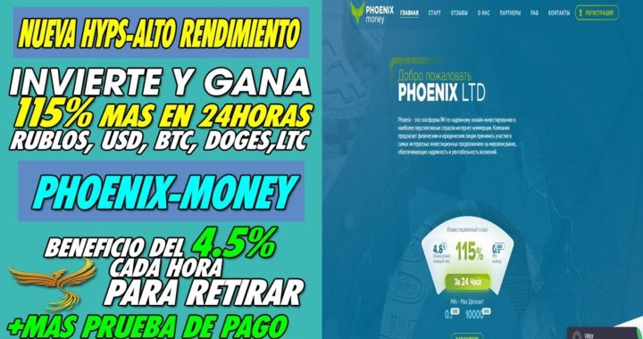 Phoenix-Money| se volvio scam - no paga