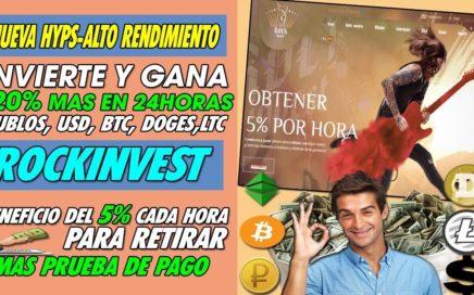 Rock-Invest|  INVIERTE Y GANA 120% MAS EN 24HORAS | BENEFICIO DE 5% CADA HORA  + PRUEBA DE PAGO