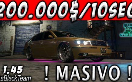 | TRUCO FUNCIONANDO | - $200.000$ CADA 10 SEGUNDOS - GTA V 1.45 - MASIVO - (PS4 - XBOX One)