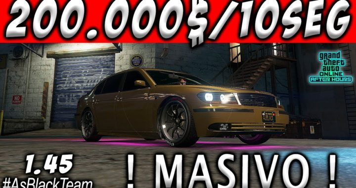   TRUCO FUNCIONANDO   - $200.000$ CADA 10 SEGUNDOS - GTA V 1.45 - MASIVO - (PS4 - XBOX One)