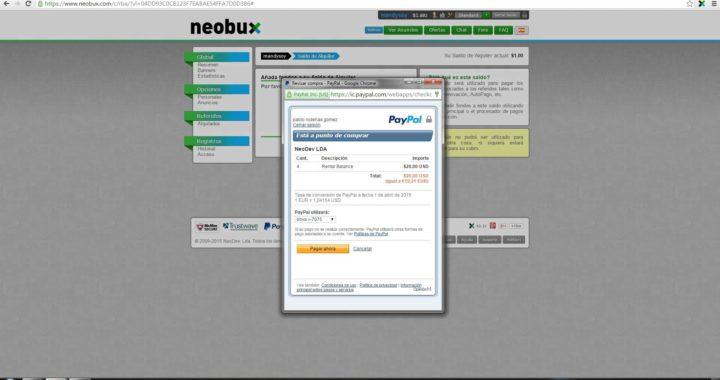 Tutorial PTC gana dinero con Neobux como comprar referidos abril 2015